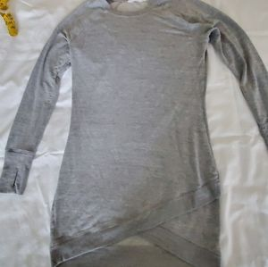 Size S Athleta gray sweatshirt dress